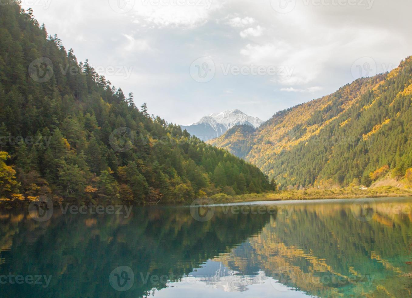 parque nacional jiuzhaigou na china foto