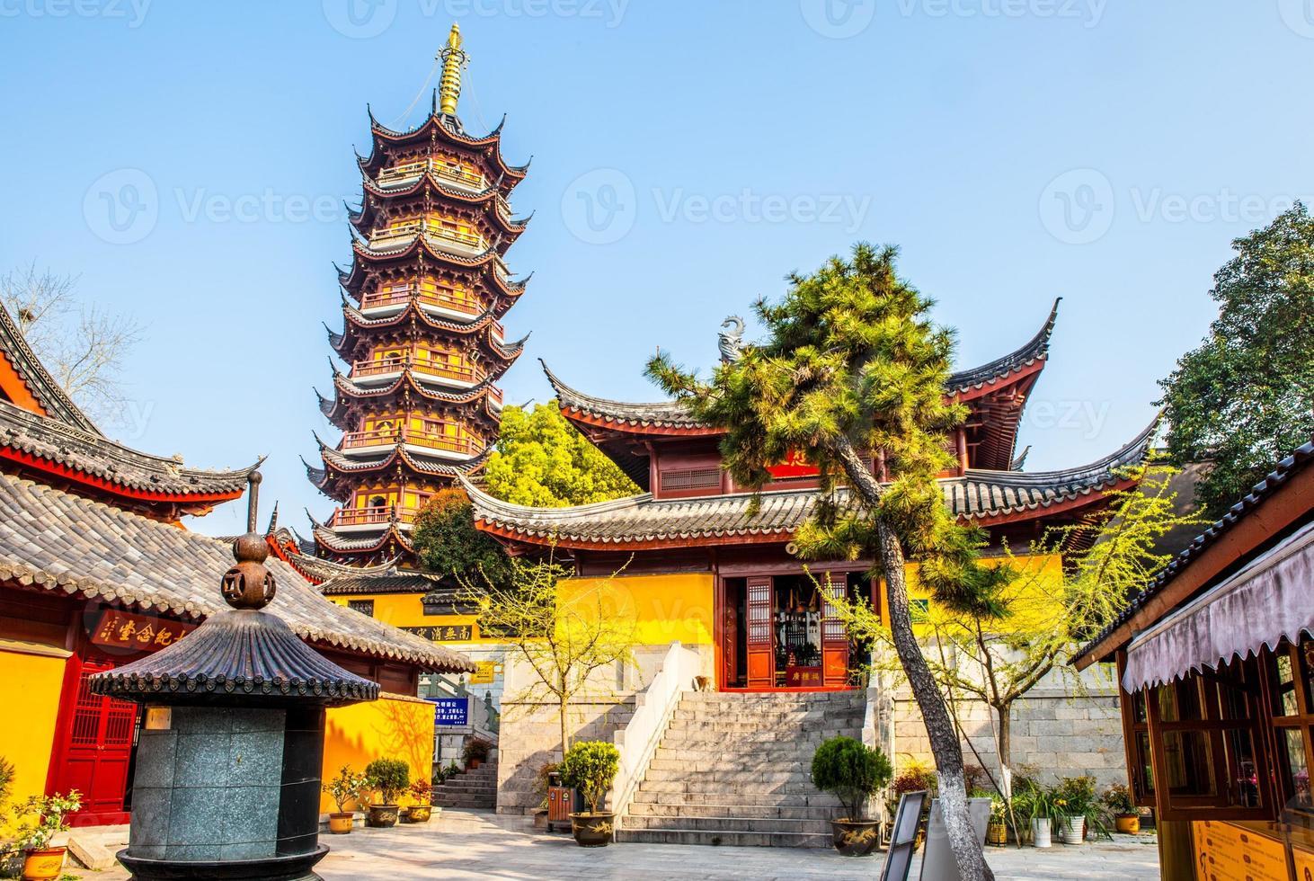 Templo de Jiming na cidade de Nanquim foto
