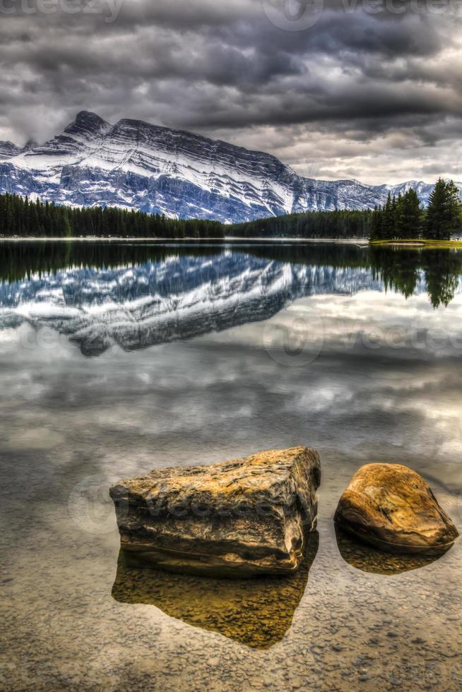 cênico lago de dois jack foto