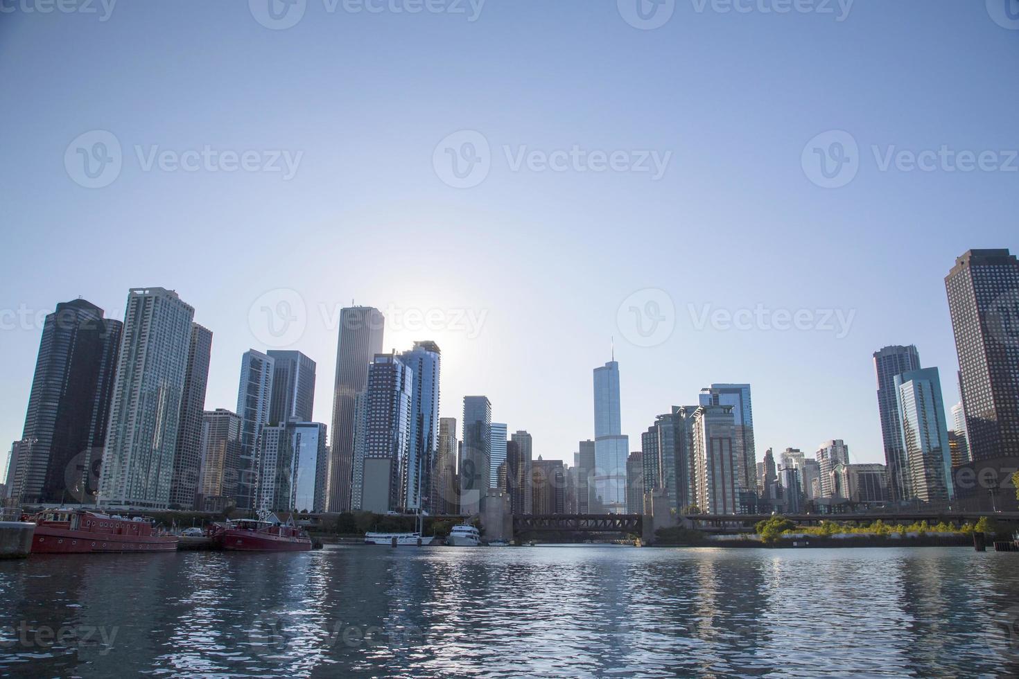 eua - illinois - chicago, linha do horizonte foto
