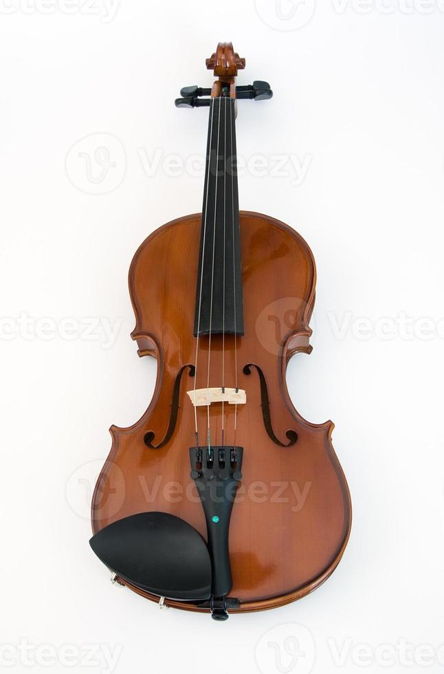 violino isolado no branco foto