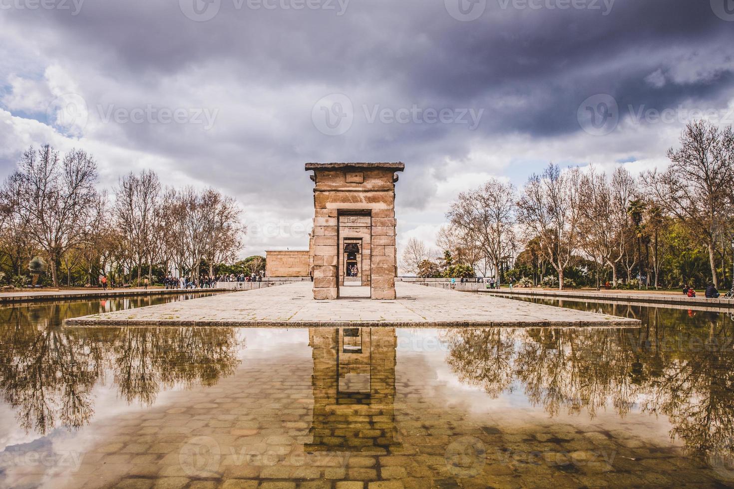 templo de debod madrid foto