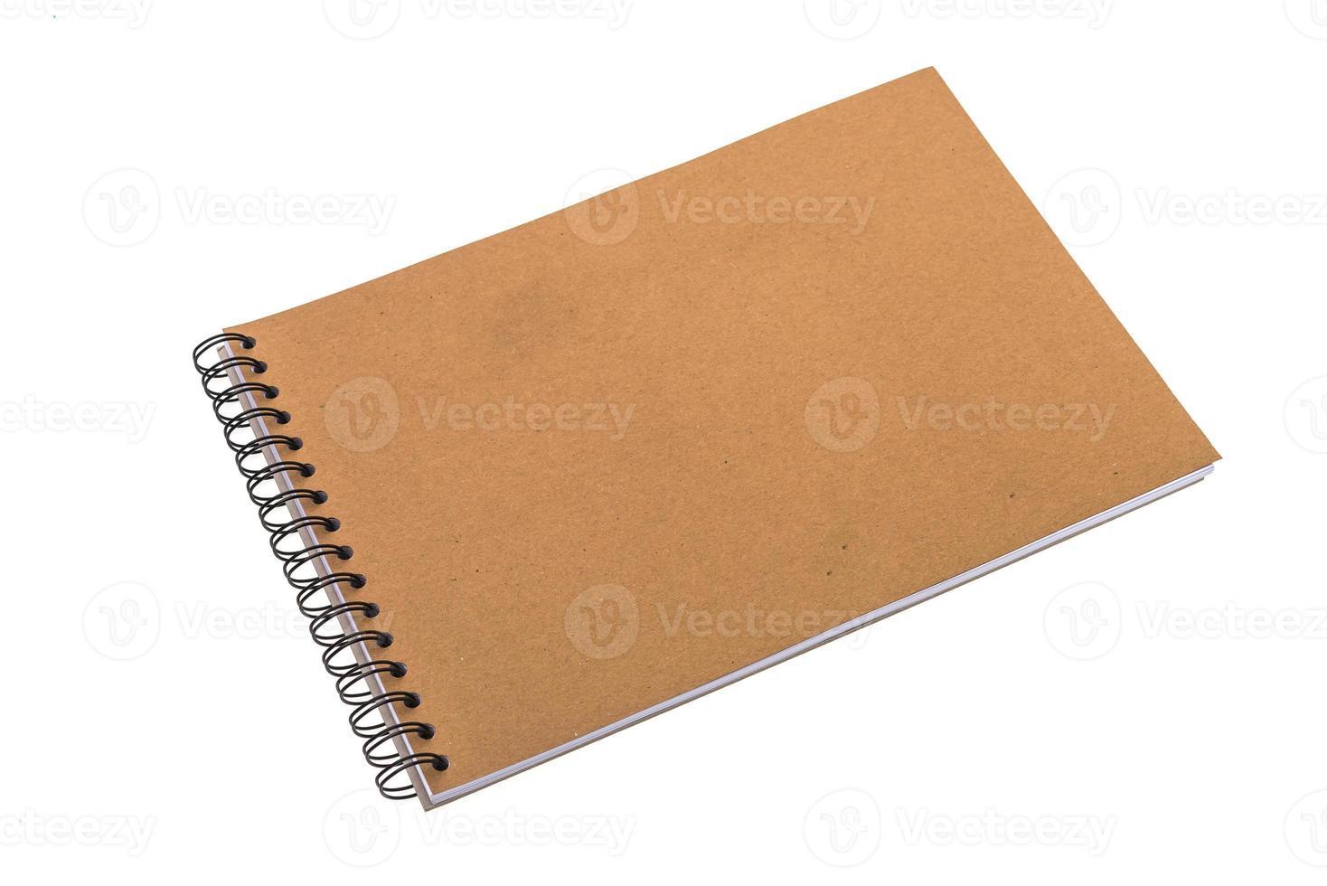 caderno em branco vazio foto