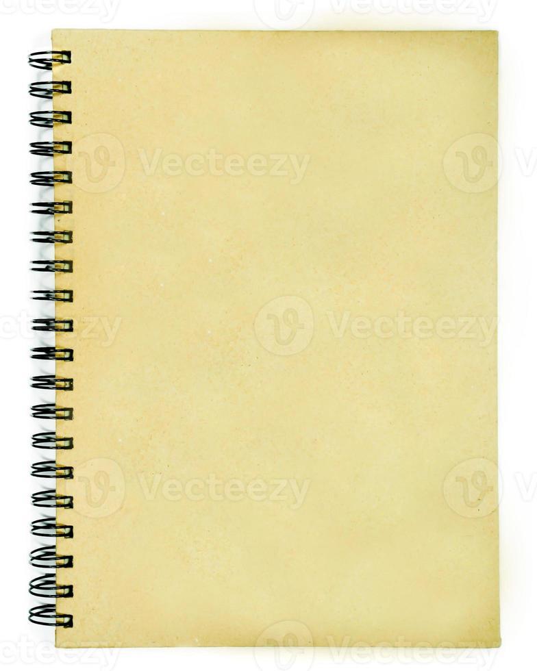 capa marrom em branco do livro foto