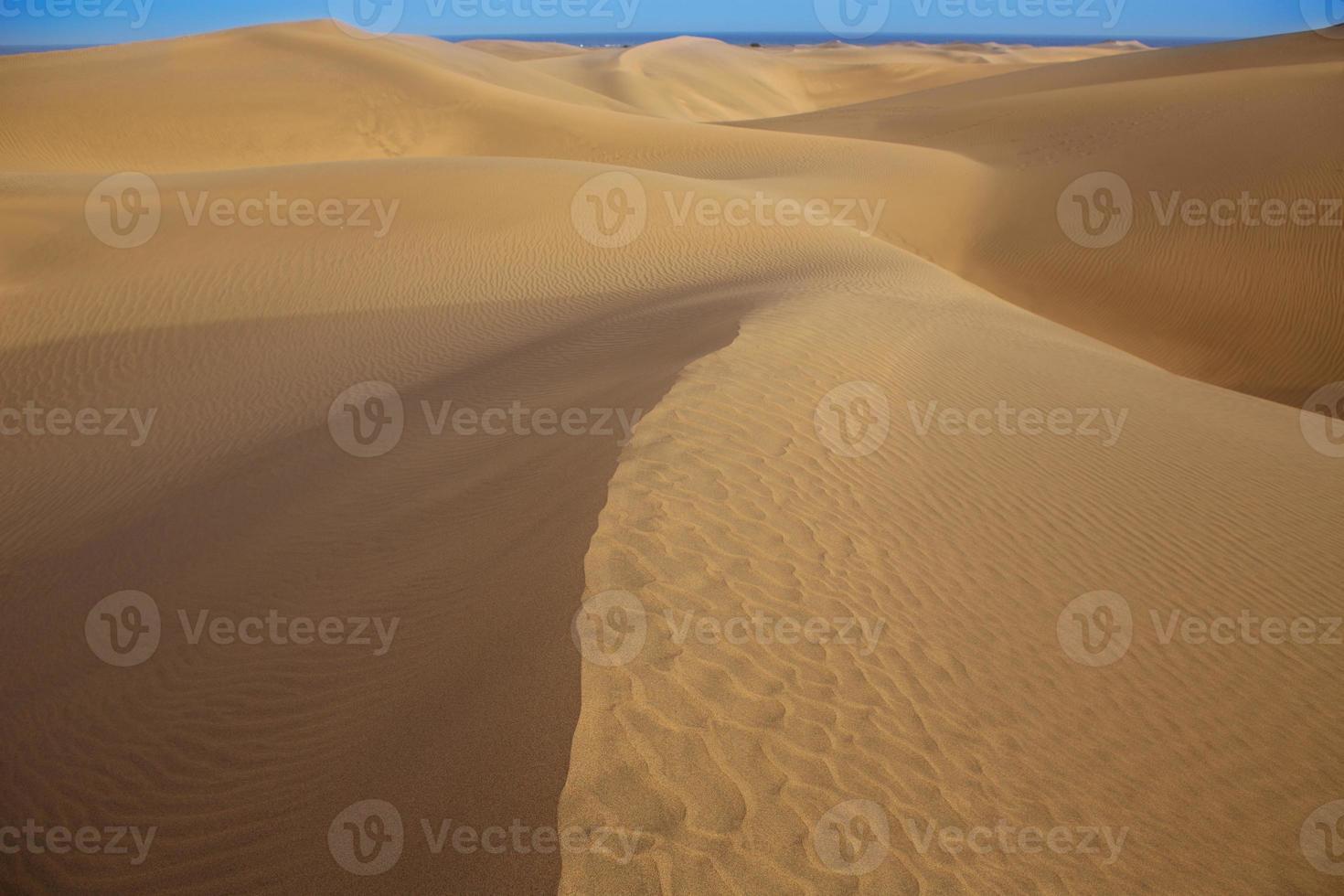 dunas de areia do deserto em maspalomas gran canaria foto