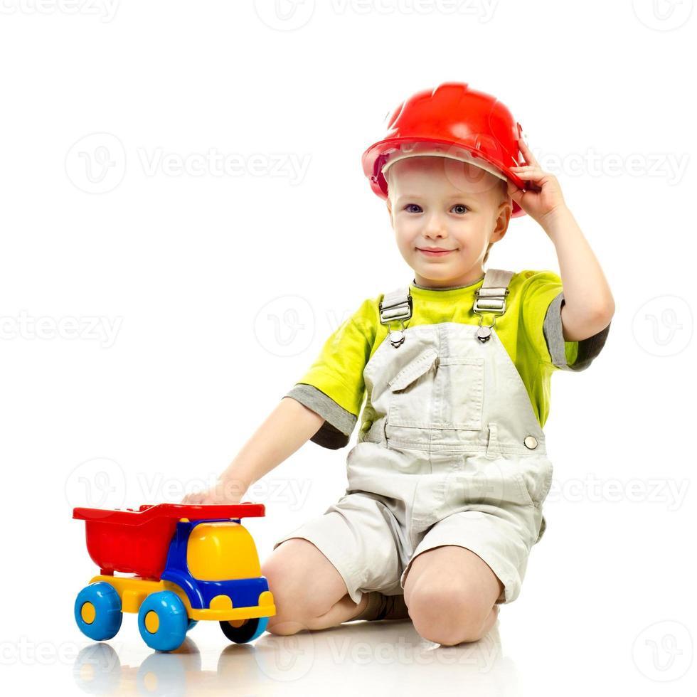 criança no capacete foto