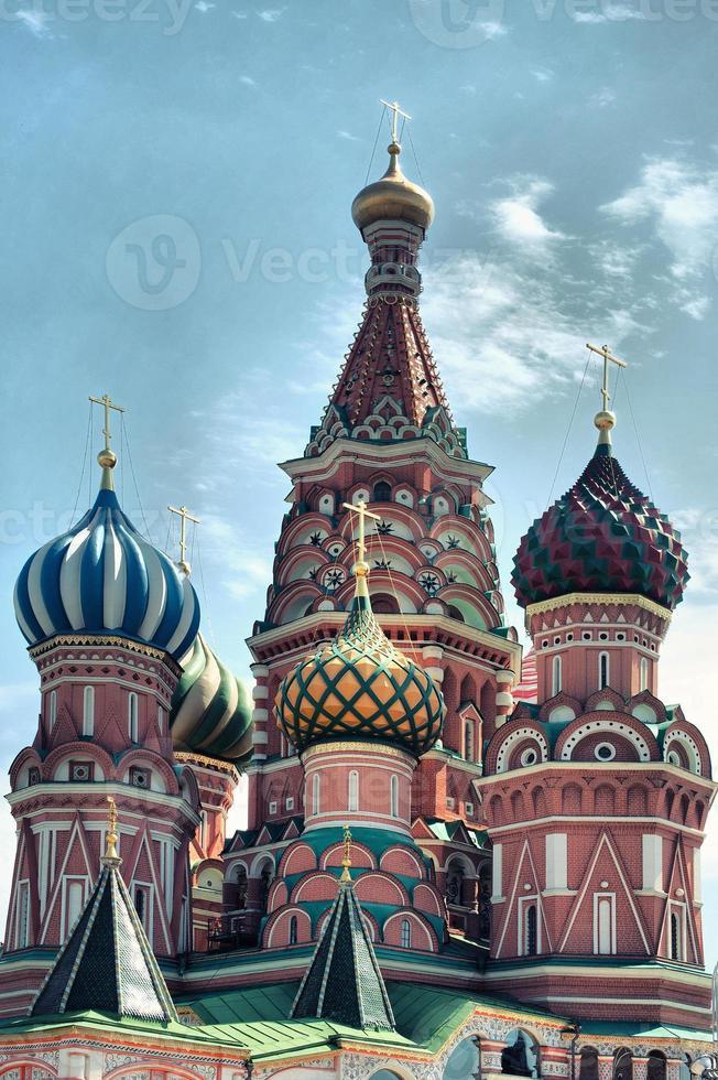 Catedral de São Basílio na Praça Vermelha, Moscou Kremlin, Rússia foto