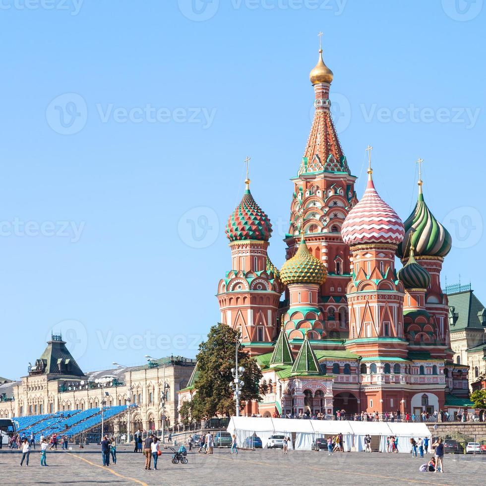 catedral na praça vermelha de Moscou kremlin foto