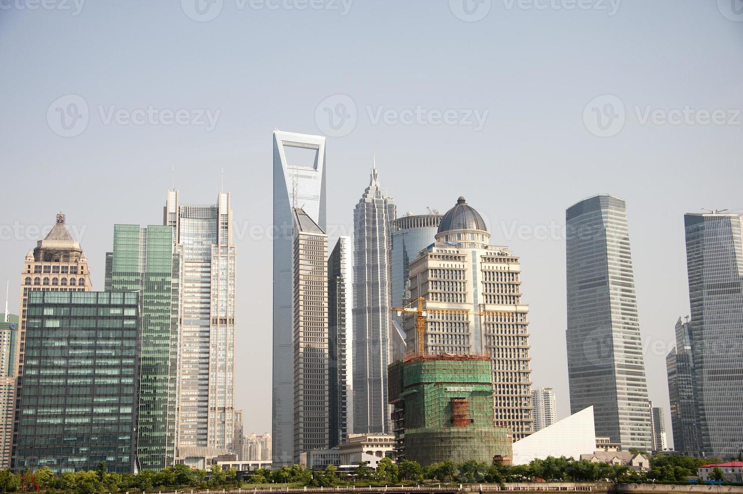 skyline de shanghai, pudong foto