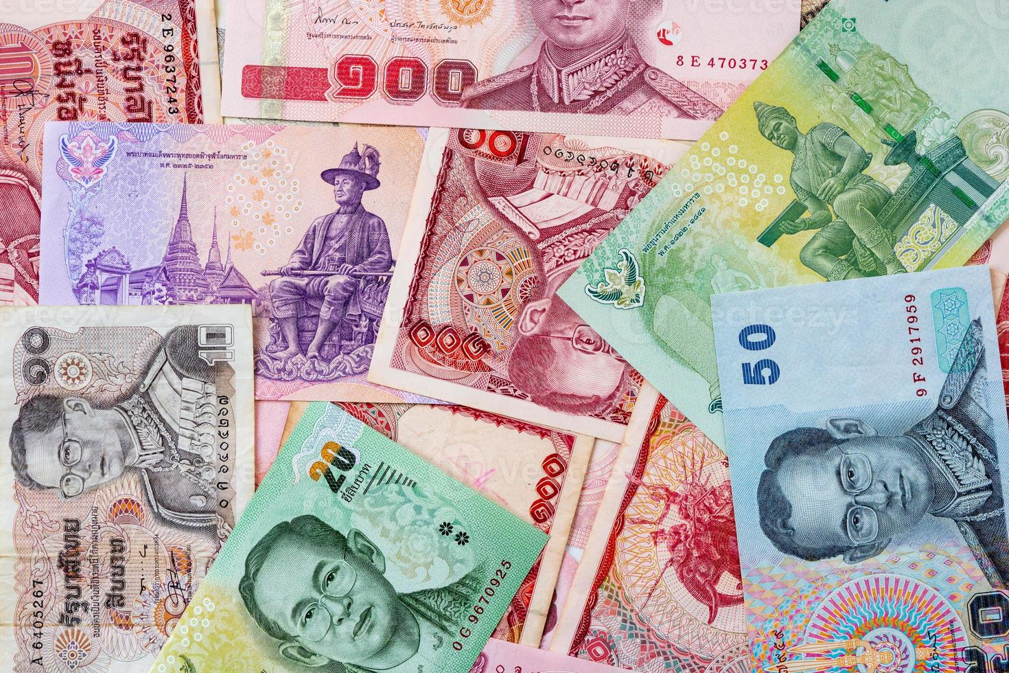 notas de dinheiro de Tailândia para o fundo foto