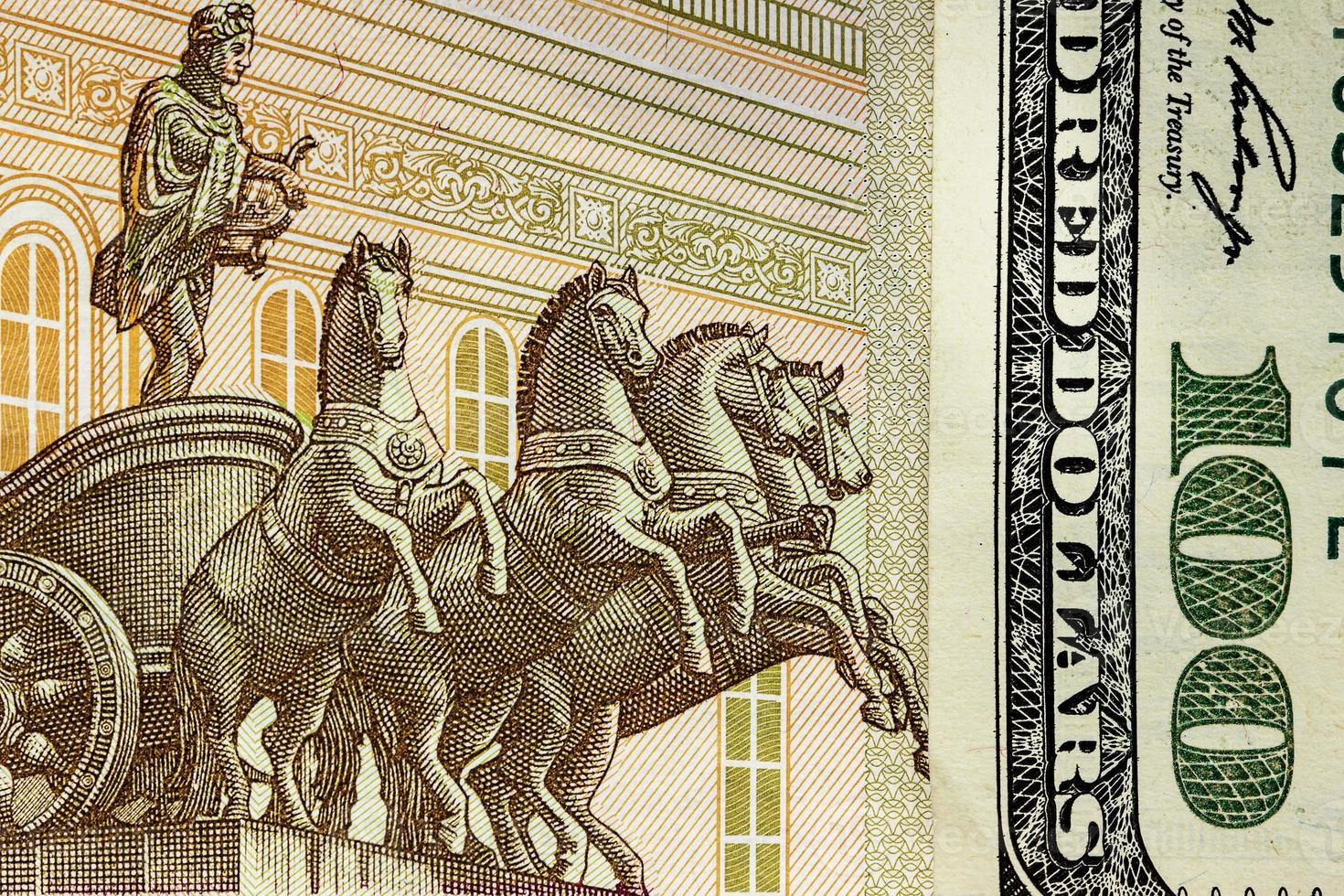 dinheiro americano e russo, fragmento foto