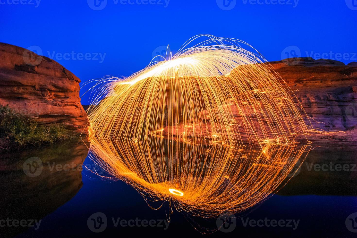 rotação de fogo foto
