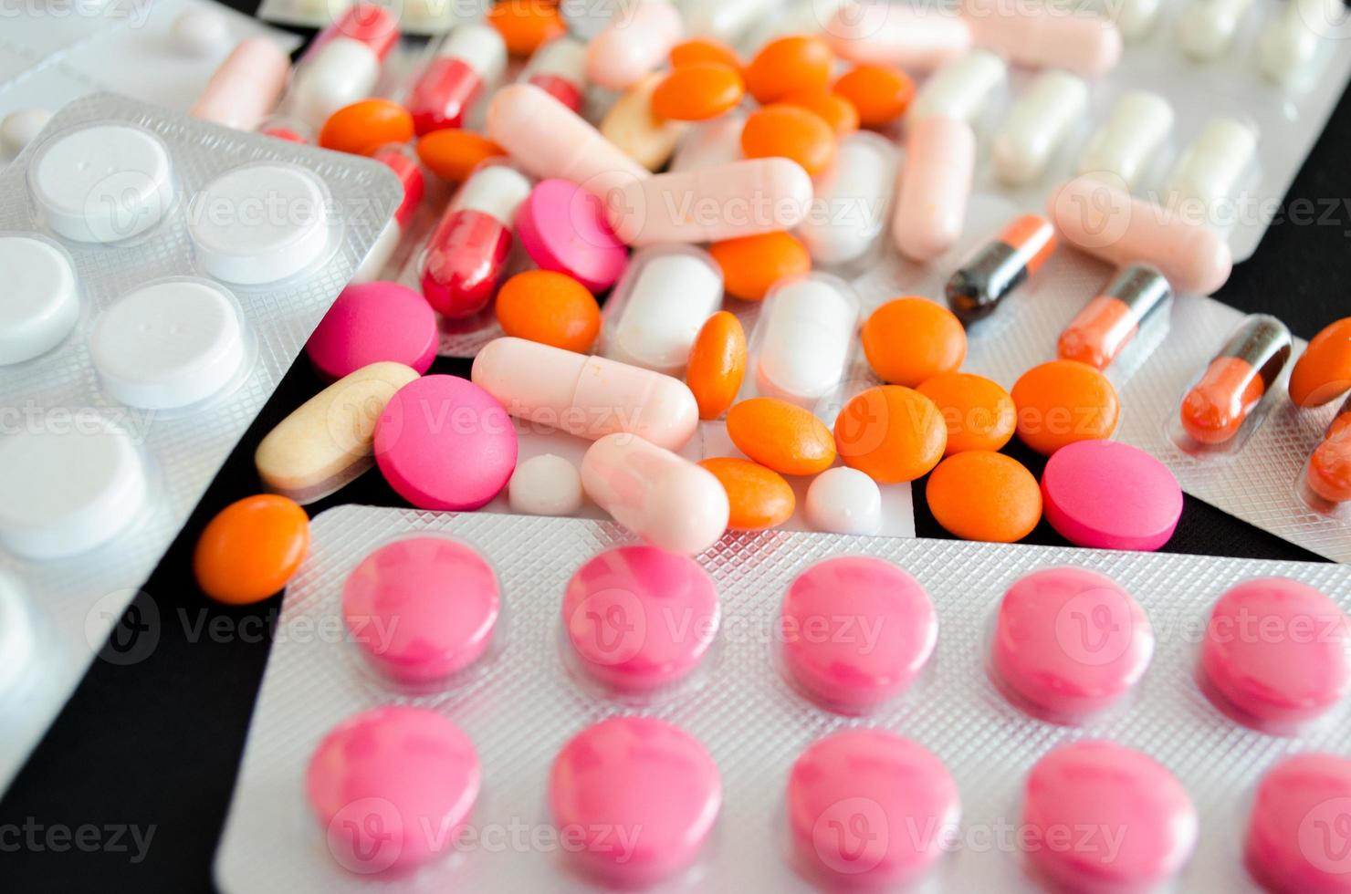 pílulas de close-up foto