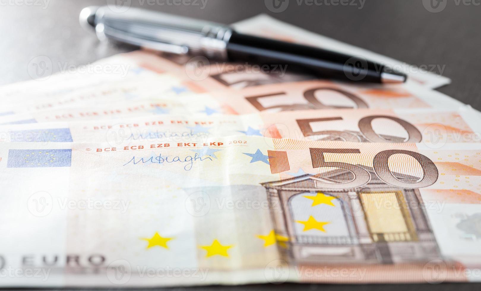 fechar a nota de euro foto