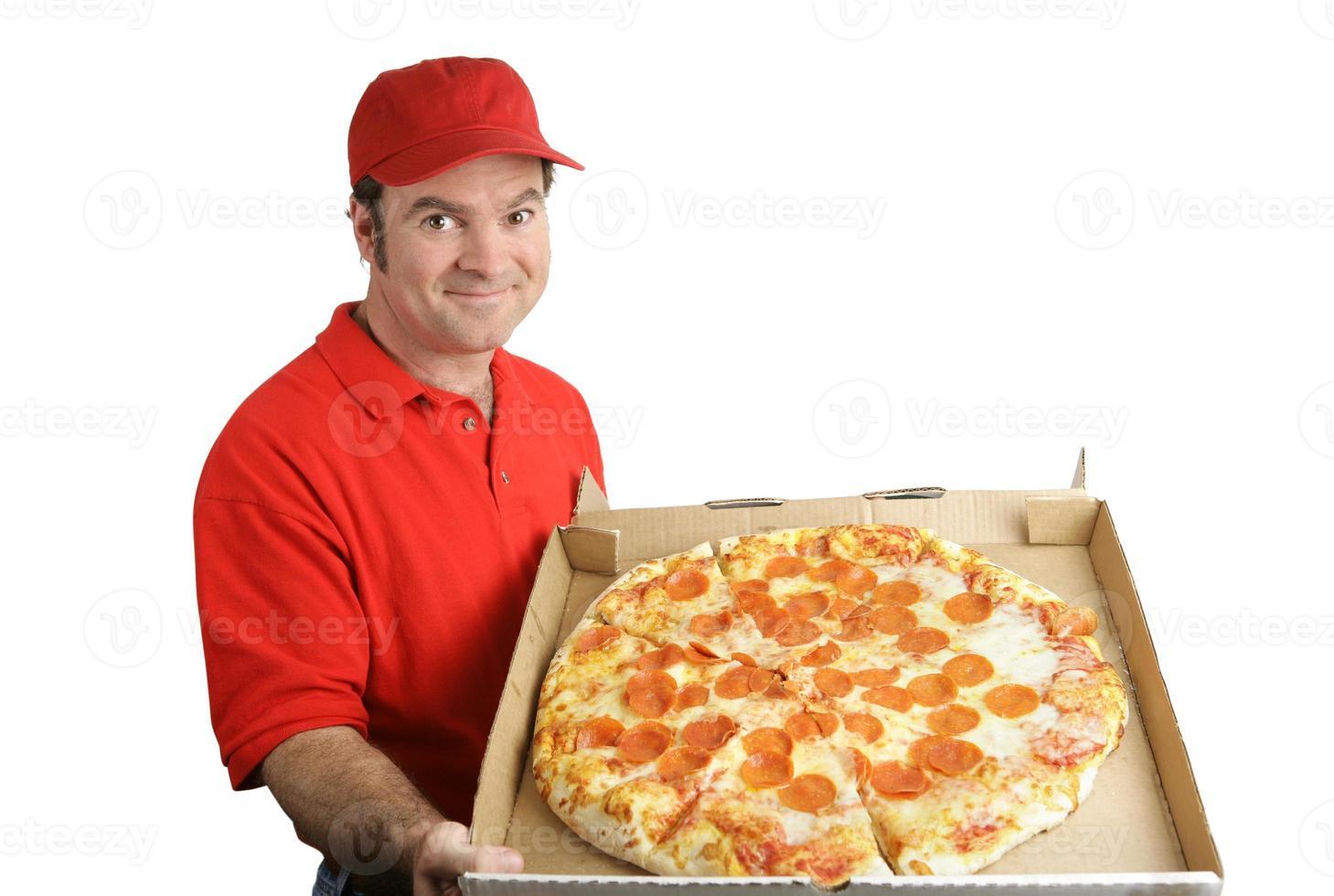 pizza de pepperoni entregue foto
