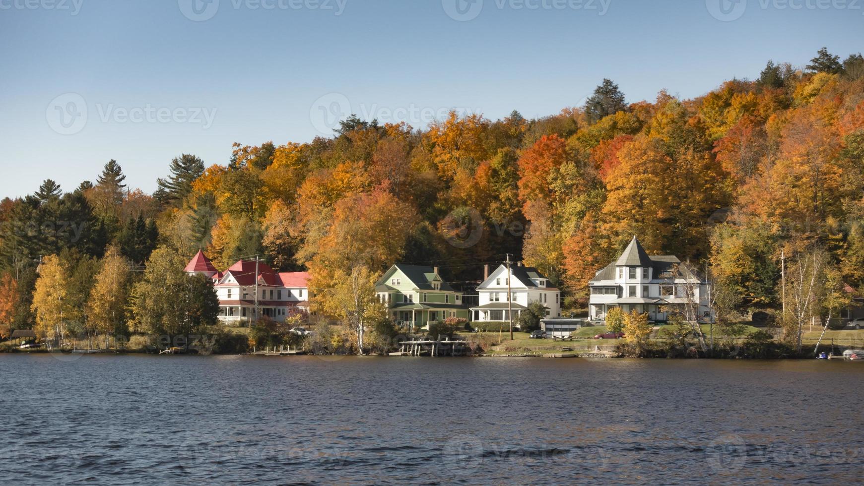 a temporada de outono nas montanhas adirondack foto