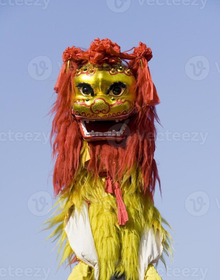 dança do leão chinês foto
