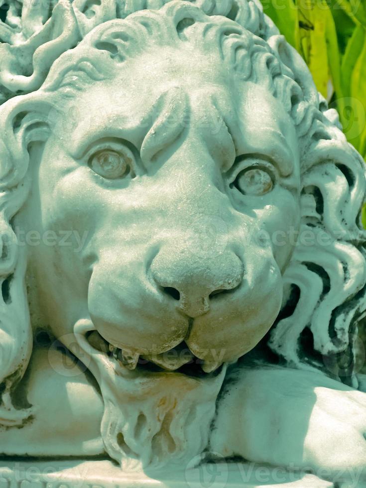 estátua do leão foto