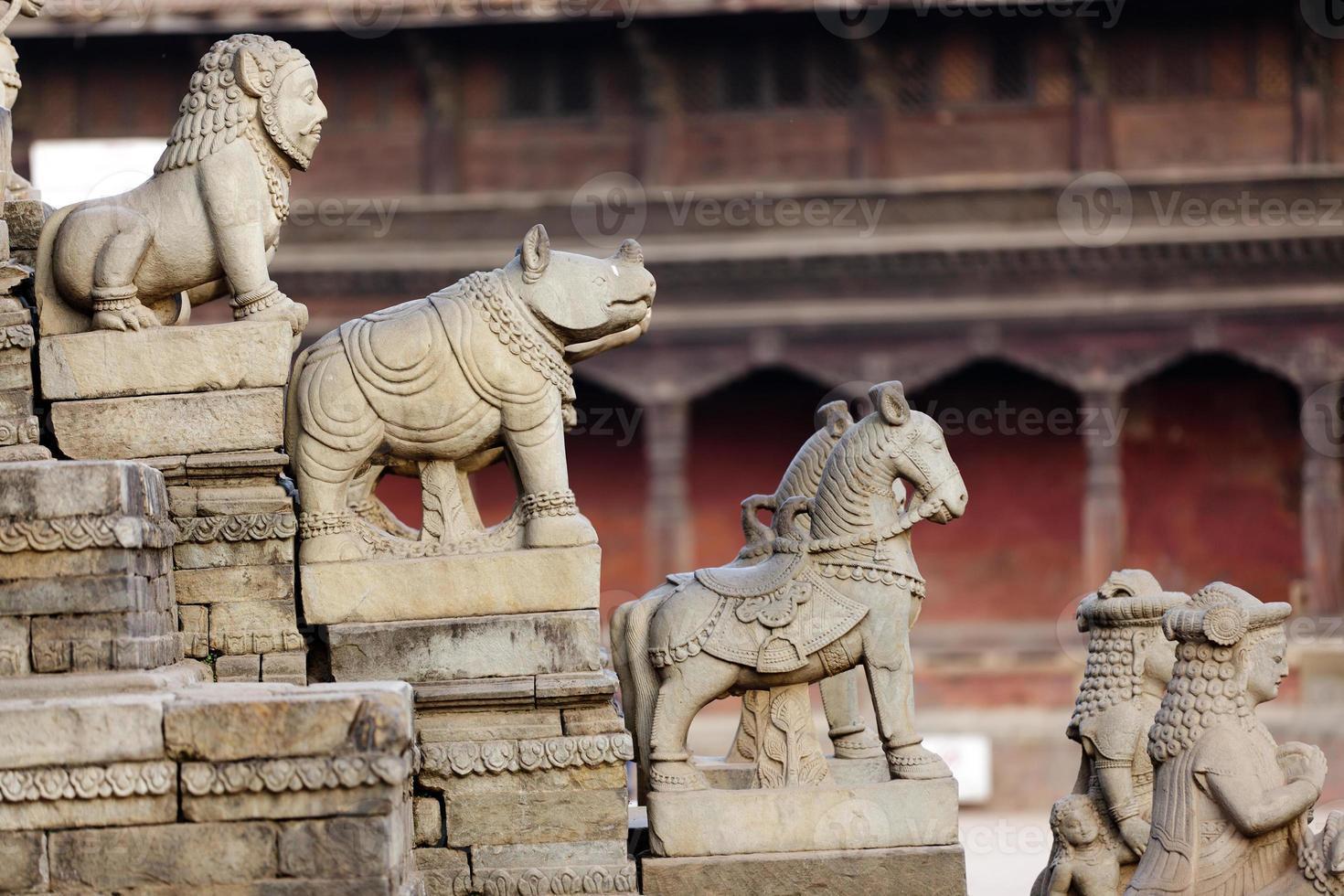 entrada do templo hindu foto