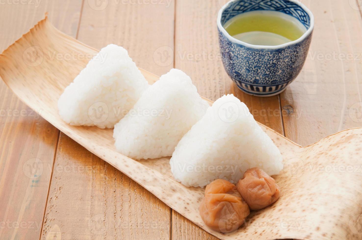 japonês, cozinha, onigiri foto