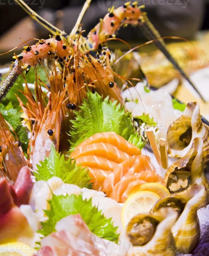 frutos do mar, comida japonesa foto