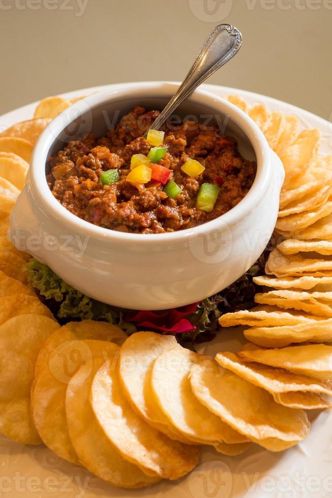 nachos com molhos foto