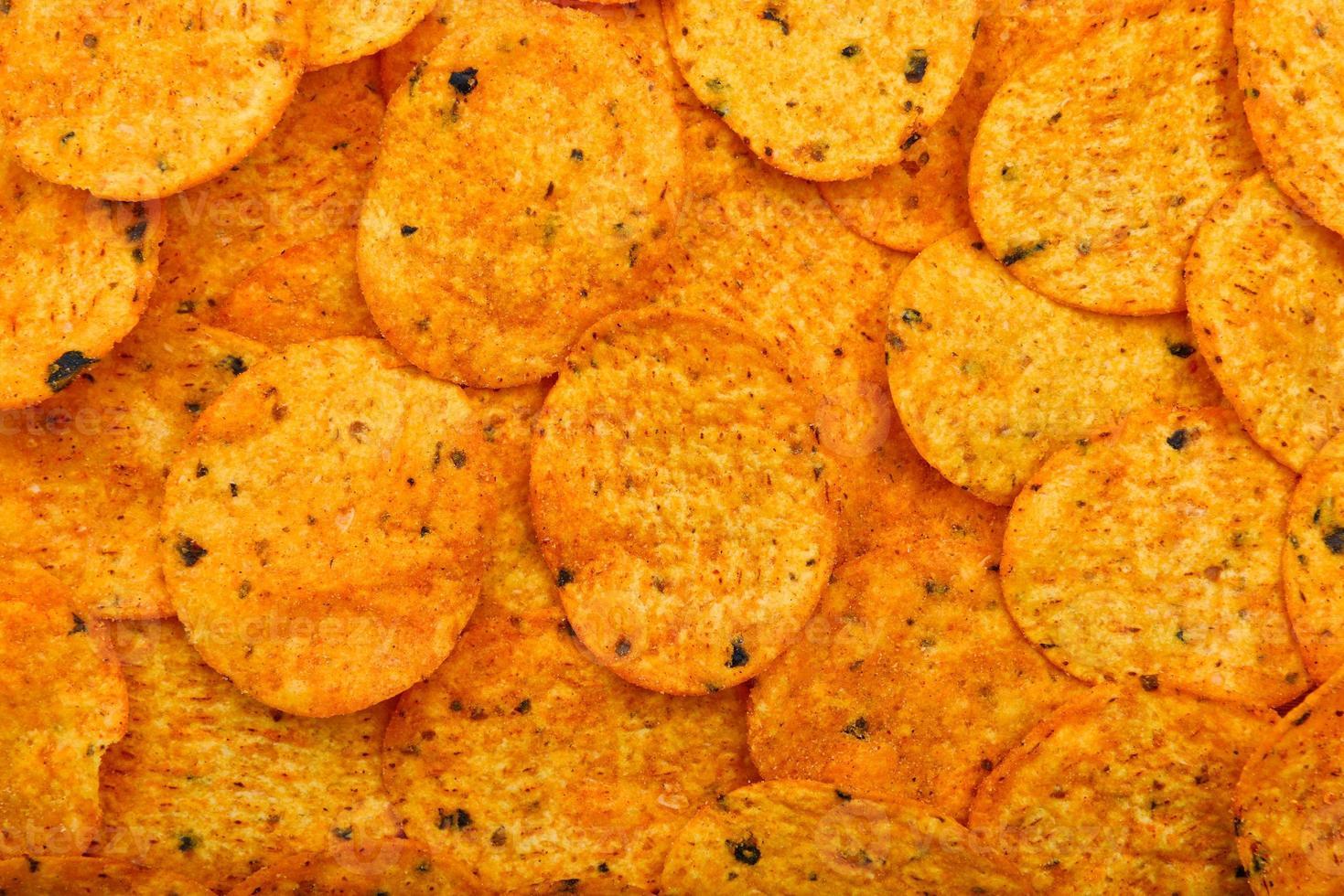 fundo de chips de nachos foto