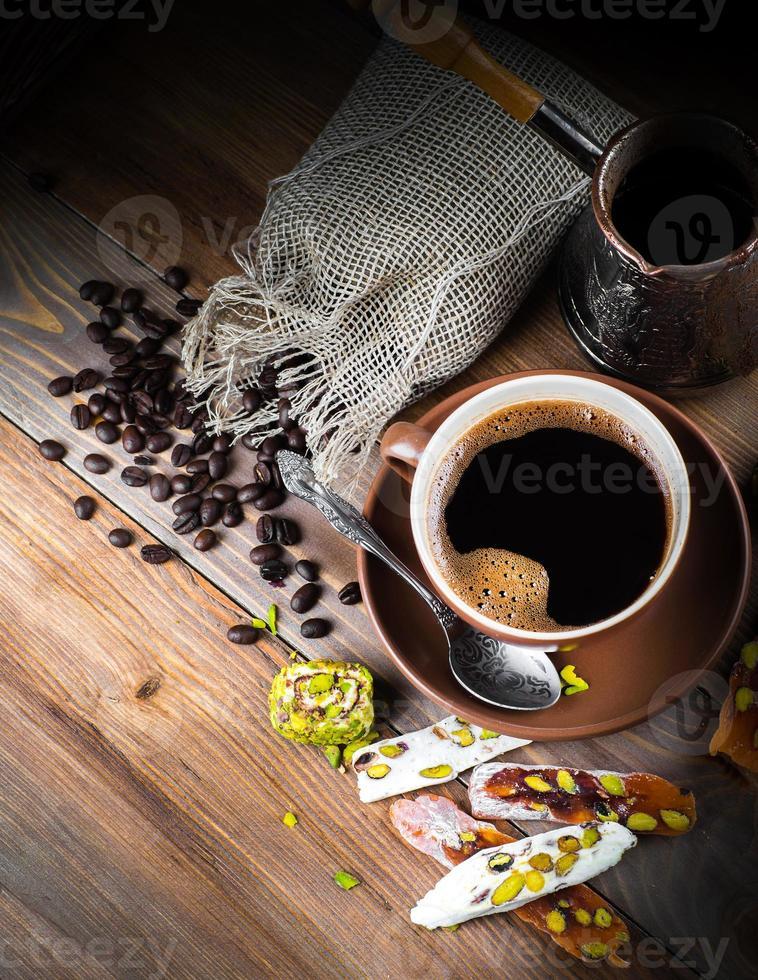 turco e café manjar turco foto