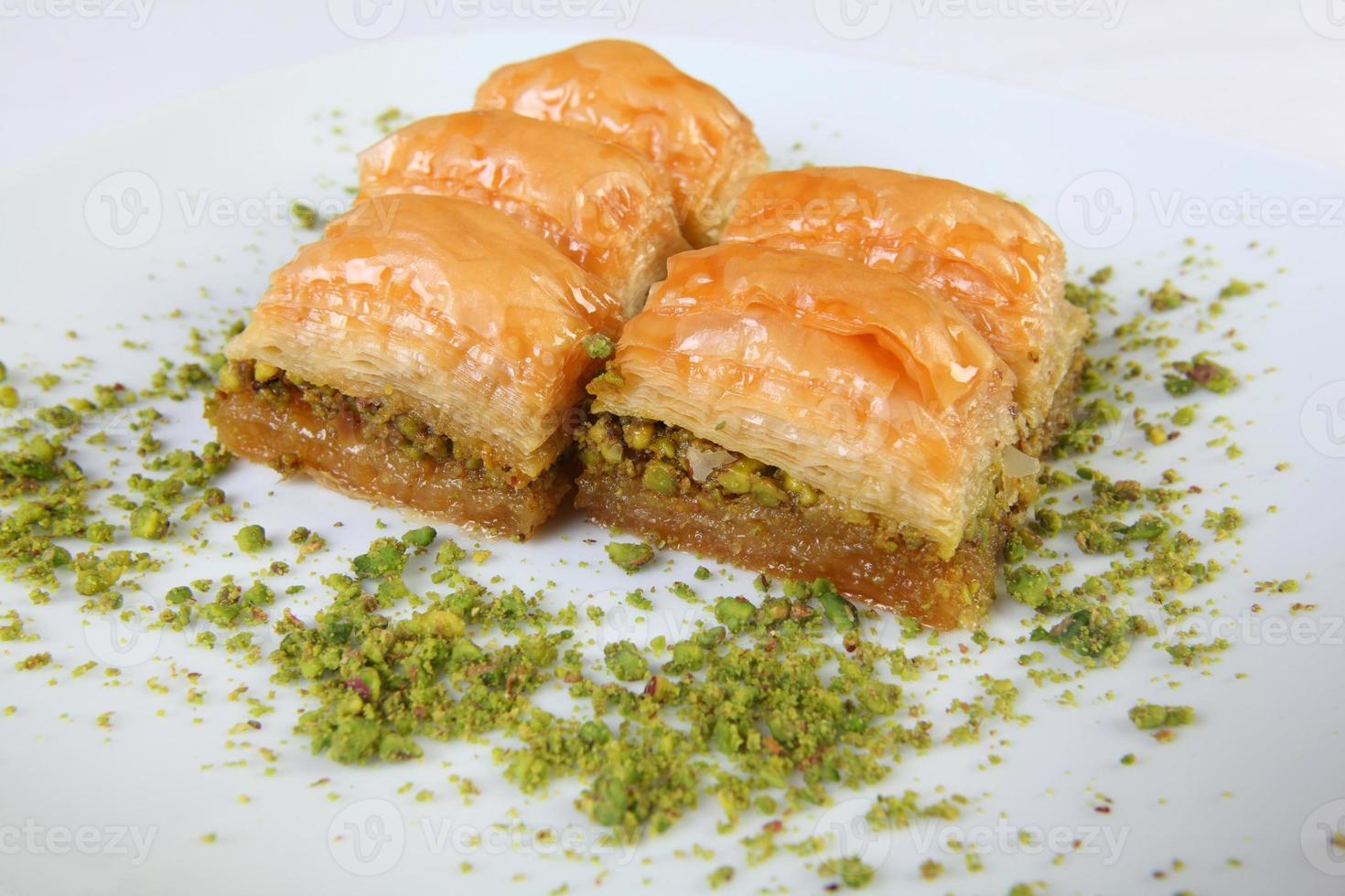 baklava com pistache foto