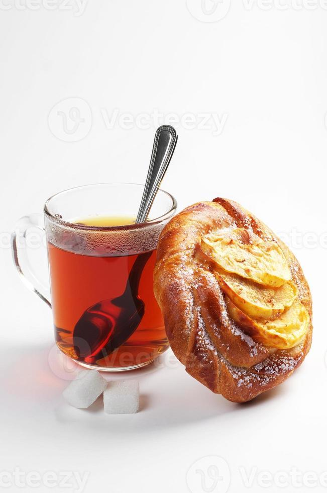 pão e chá foto
