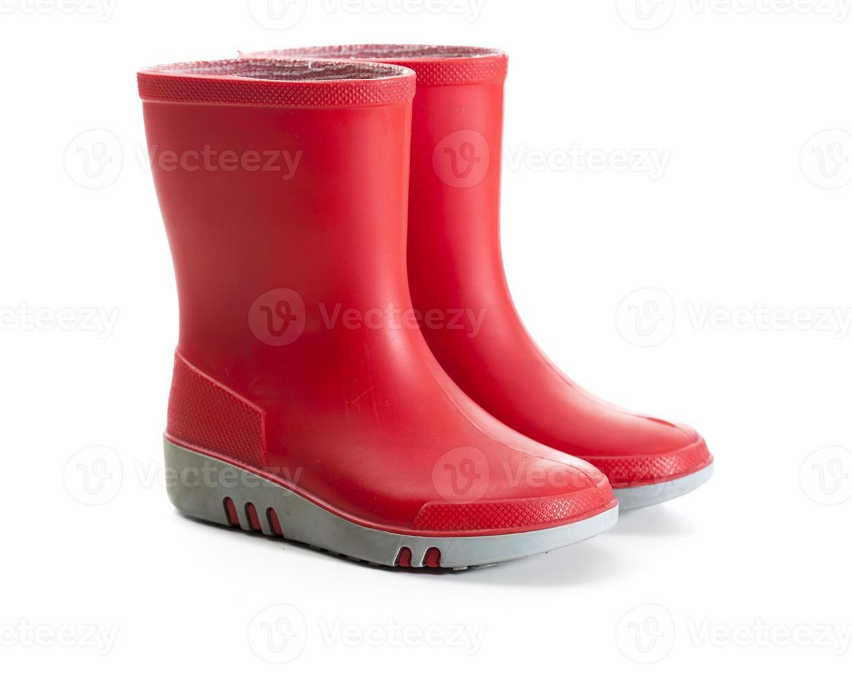 botas de chuva crianças vermelhas foto