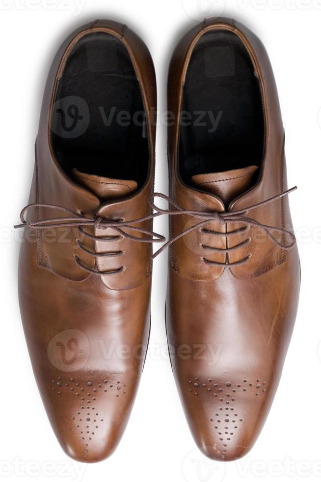 sapatos bronzeados de cima foto