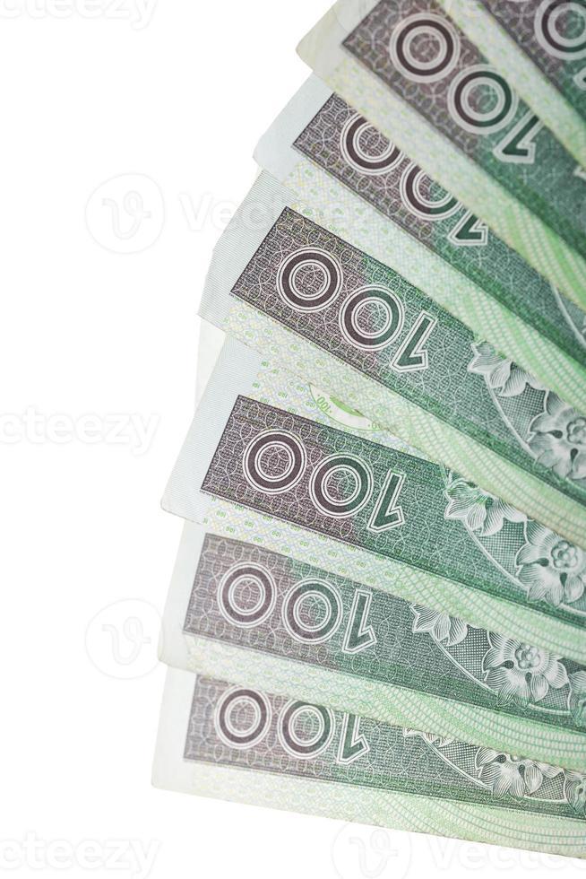 pilha de notas em moeda polonesa foto