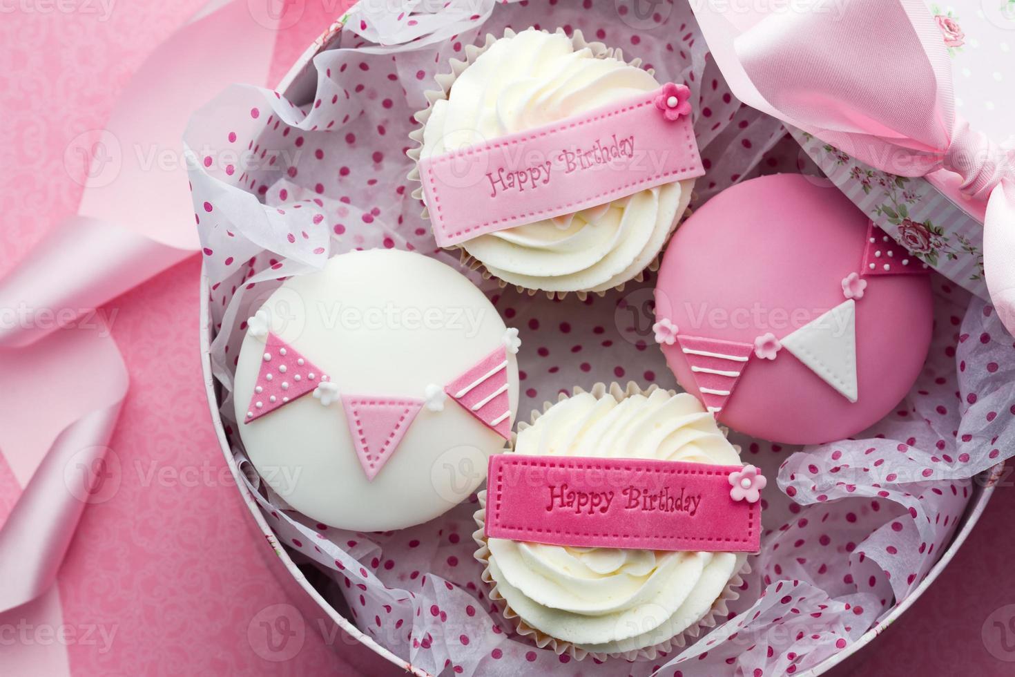 caixa de presente cupcake foto