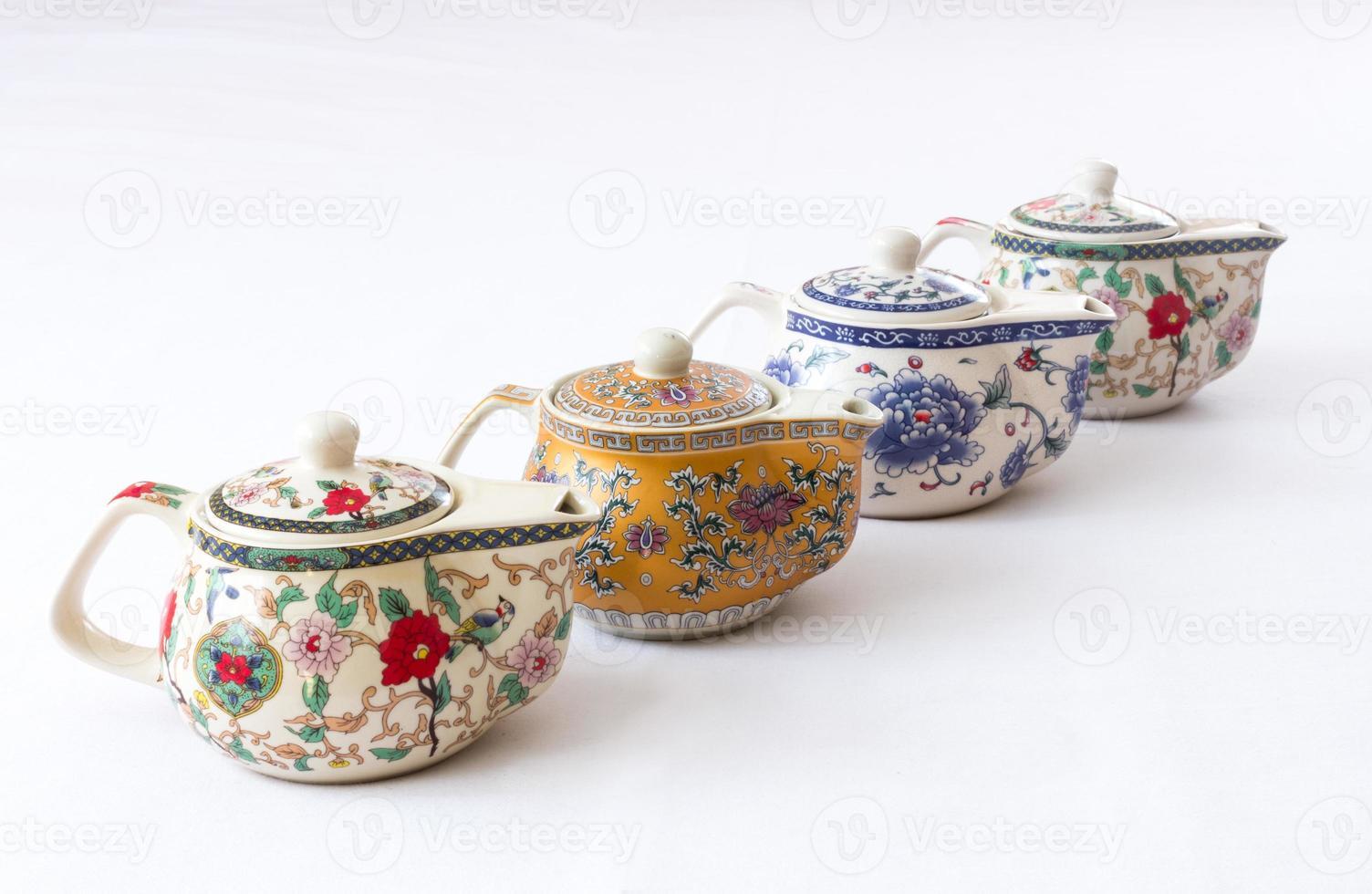 bules de chá chinês foto
