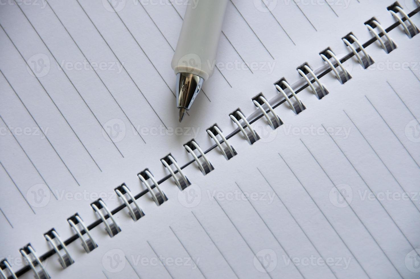 caderno, planejador vazio foto