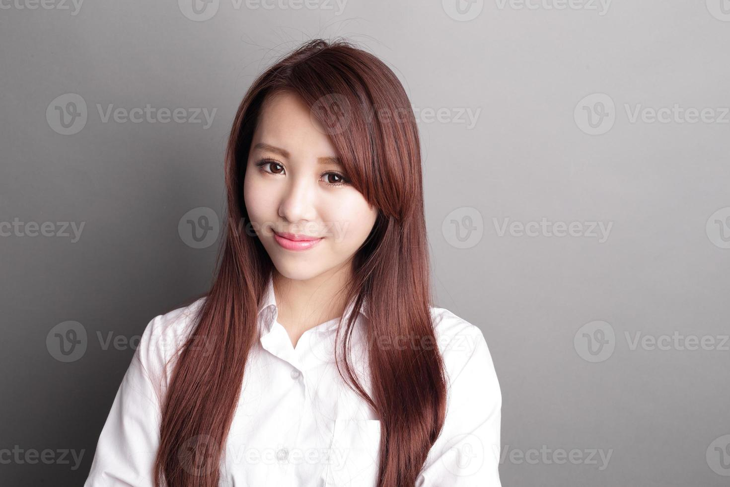 mulher de negócios de sorriso foto