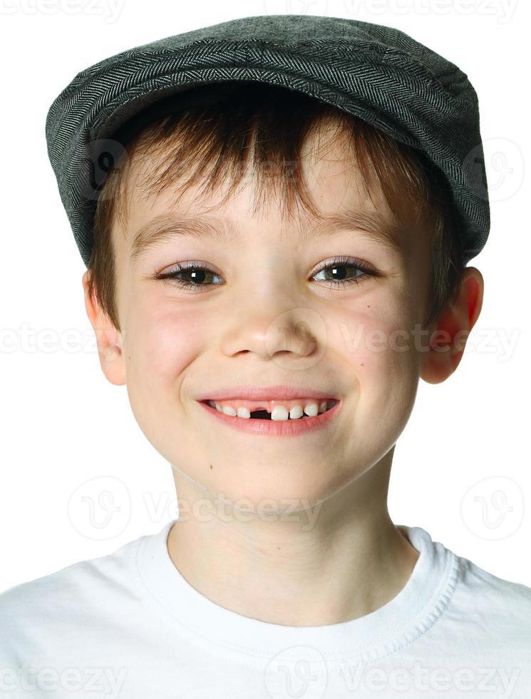 menino com um chapéu foto