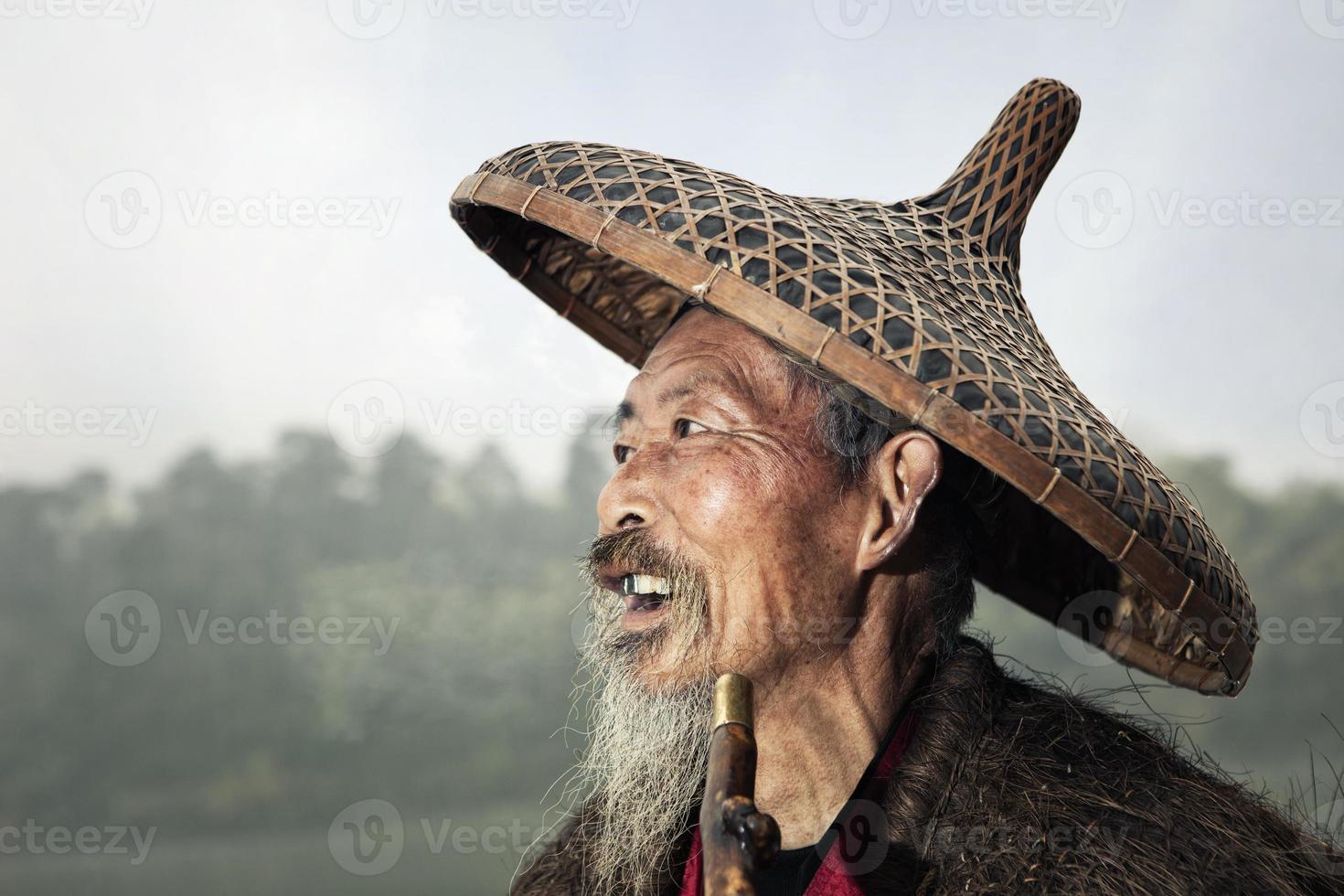 pescador chinês foto