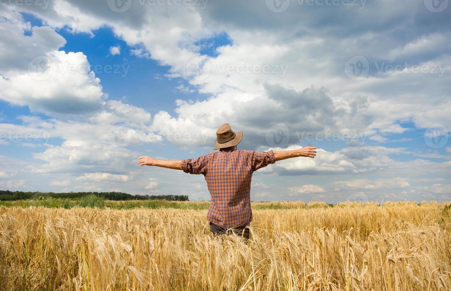 satisfação do camponês foto