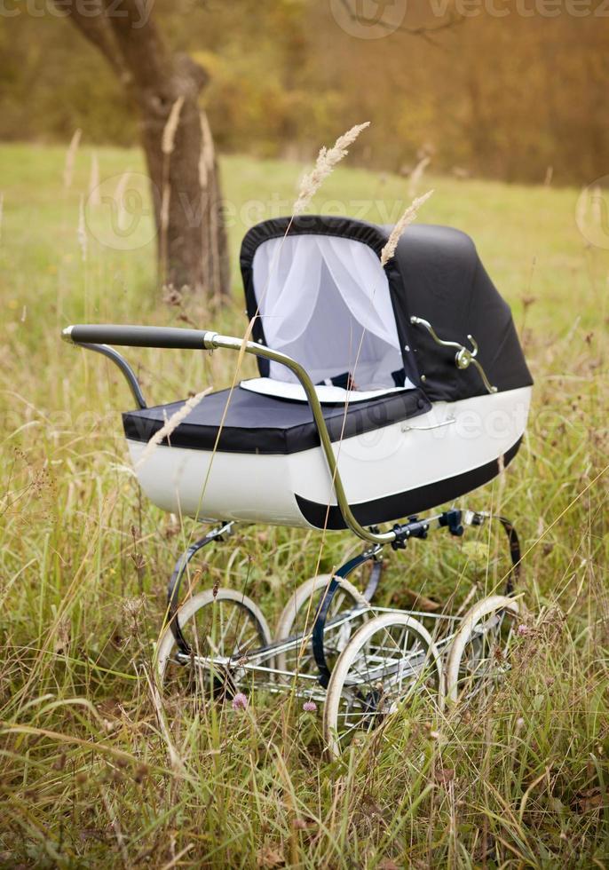 carrinho de bebê vintage foto