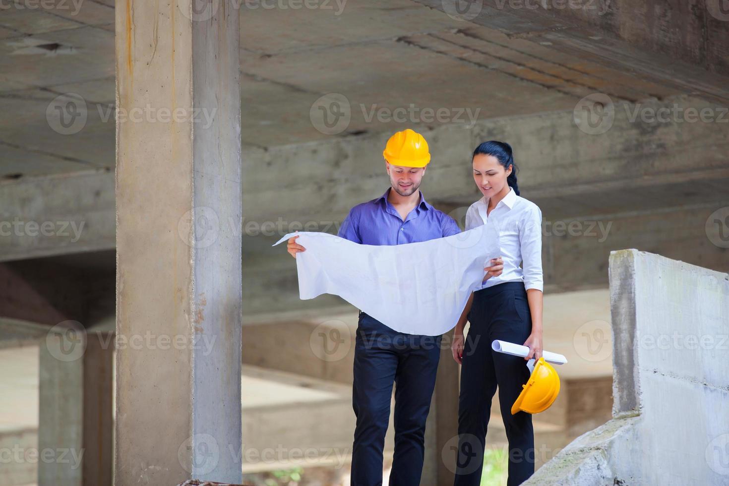 arquiteto gerente de construção foto