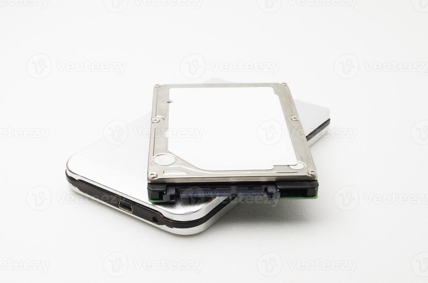 unidade de disco rígido para laptop com gabinete externo foto