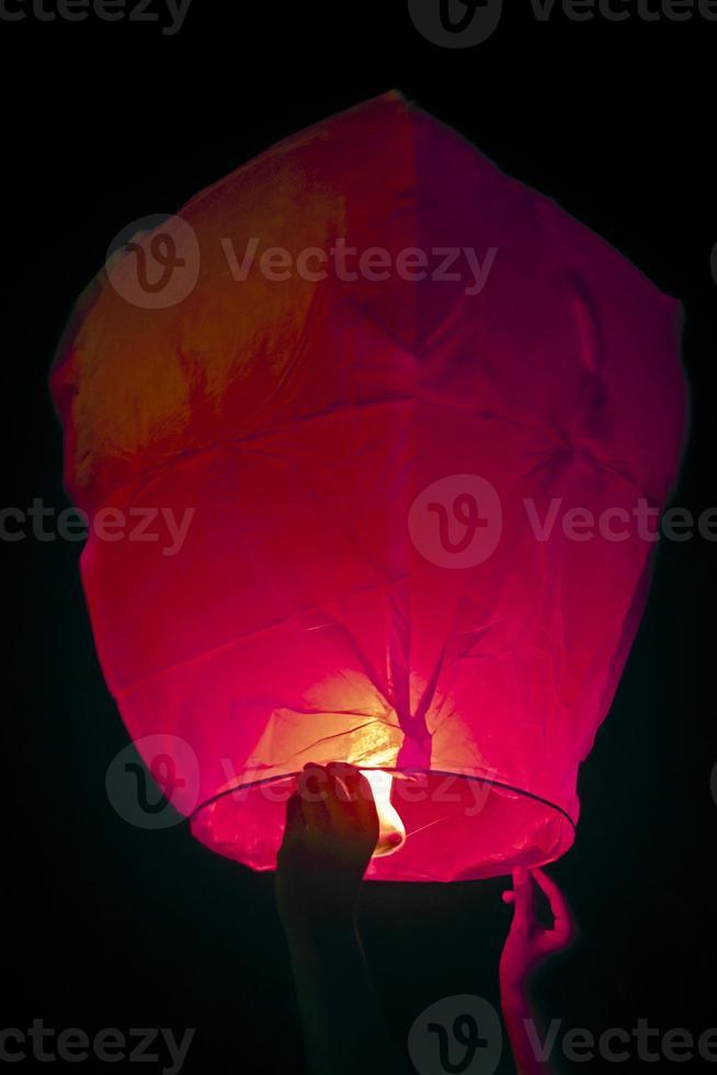 lanterna de kongming (lanterna do céu) foto