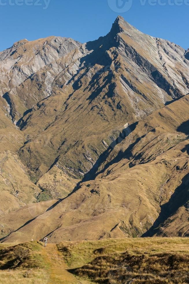 Cordilheira em Mount aspiring National Park foto