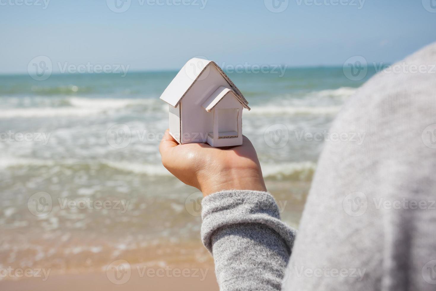 modelo de papel em casa. foto