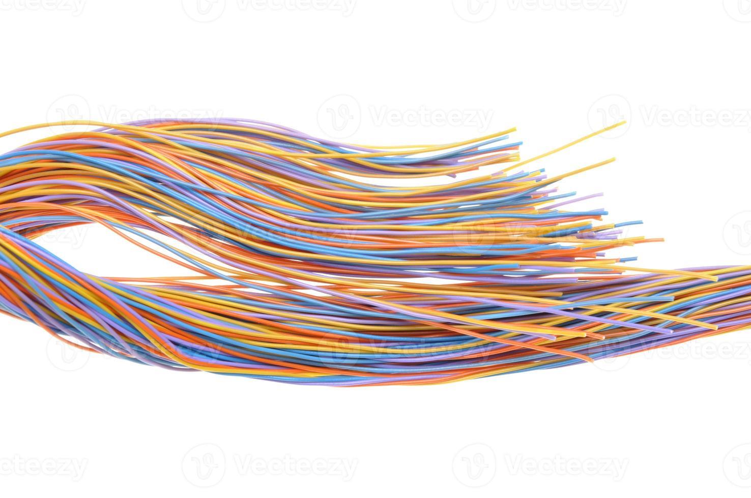 cabo de rede de computador multicolorido foto
