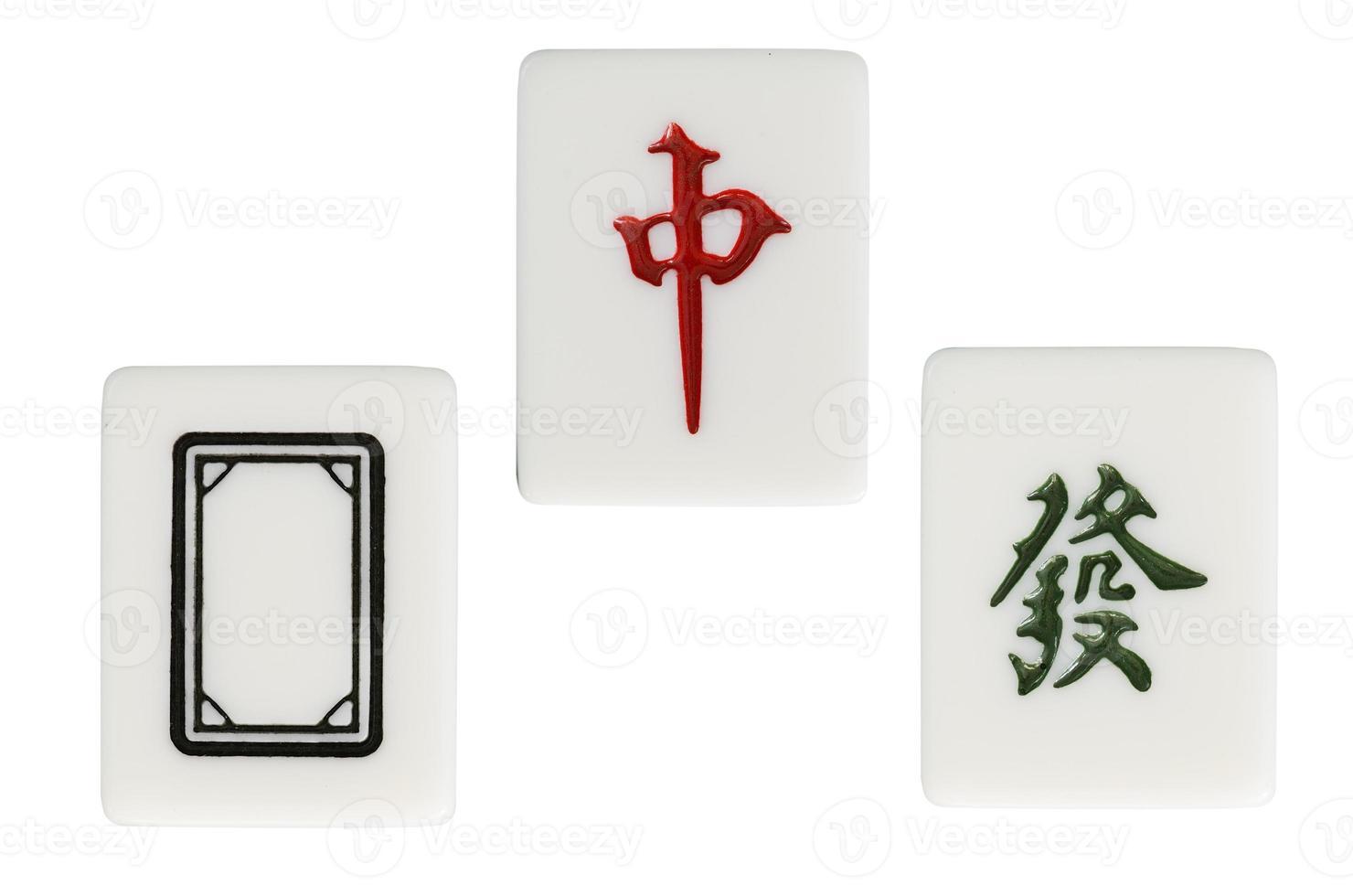 todo o mahjong do terno do dragão foto