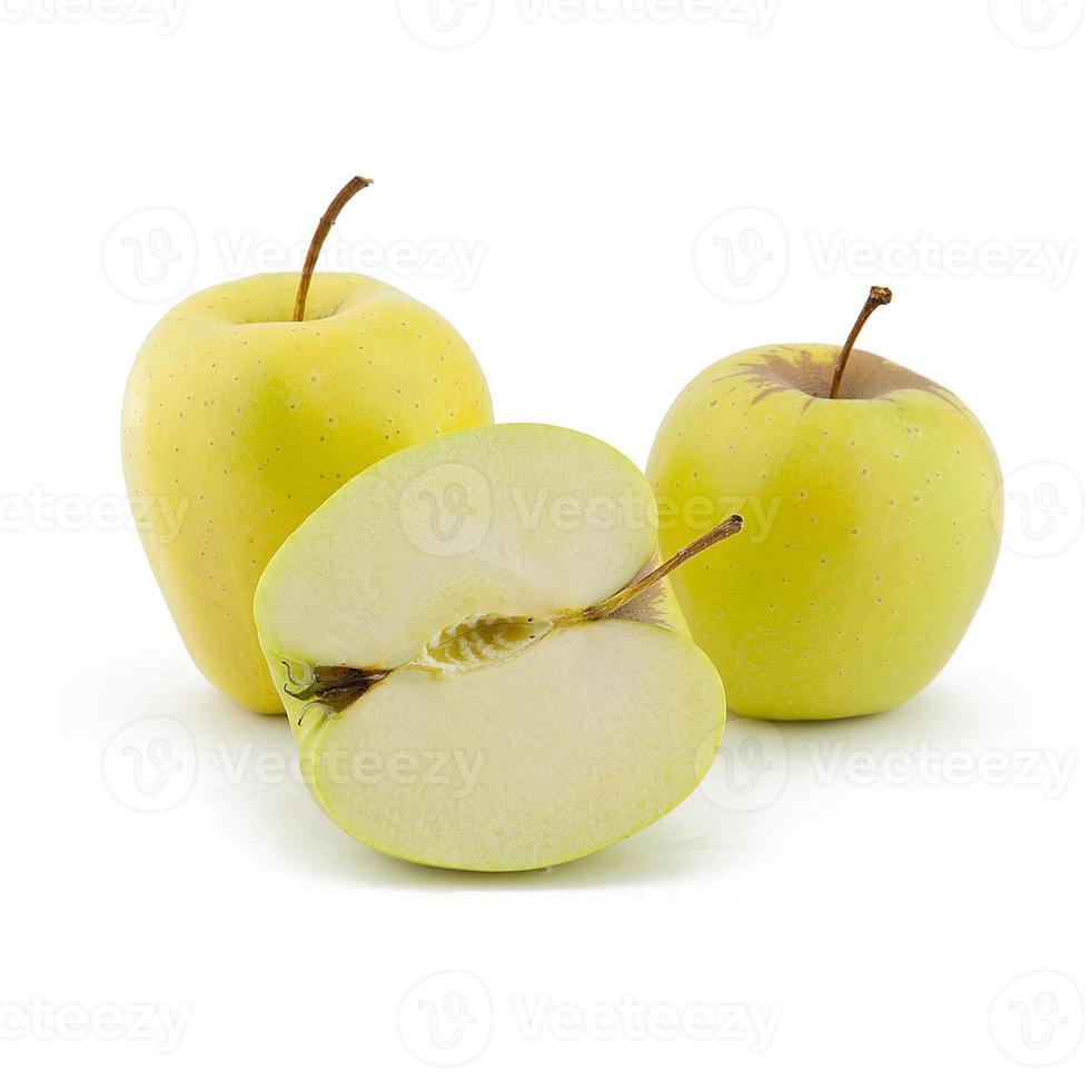 maçãs amarelas foto