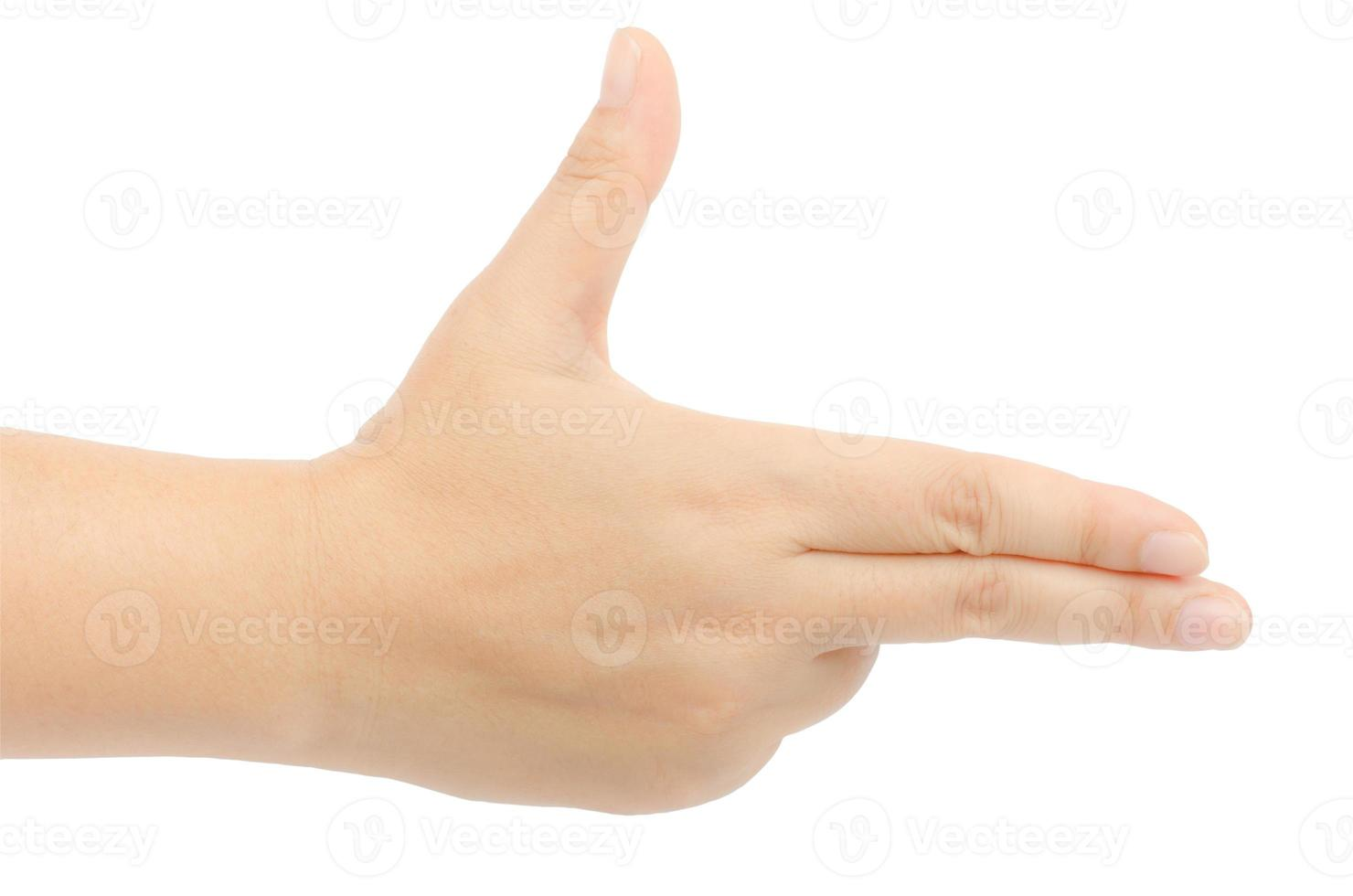 sinal de mão foto